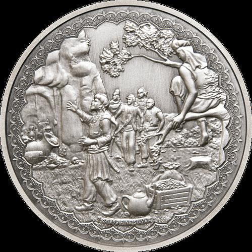 Anverso Moneda Alibaba y los 40 ladrones. cARTEm COINS