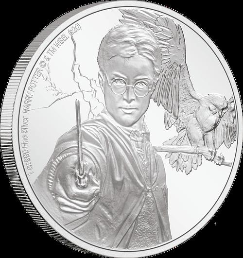 Canto moneda de plata. Harry Potter. cARTEm COINS