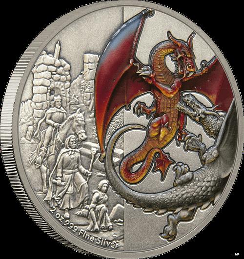 Canto moneda de plata Red Dragon. cARTEm COINS
