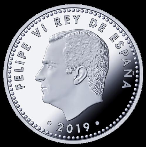 Reverso Moneda de plata España 50 Aniversario de la llegada a la luna. cARTEm COINS