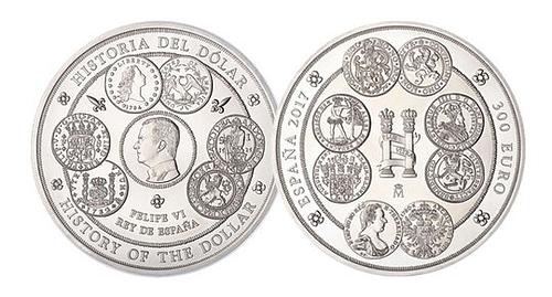 Moneda 1 kilogramo de plata pura Historia del Dólar. Caras. cARTEm COINS