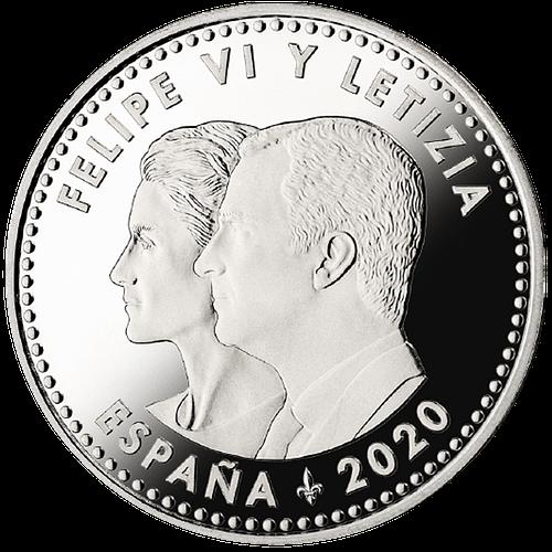 Anverso moneda dedicada a los héroes anonimos del covid19