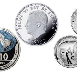 Colección completa de plata 50 Aniversario de la llegada a la luna. cARTEm COINS