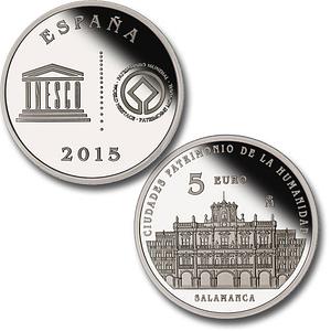 Caras. Moneda Ciudades Patrimonio de la Humanidad. Salamanca. 5 euro. cARTEm COINS