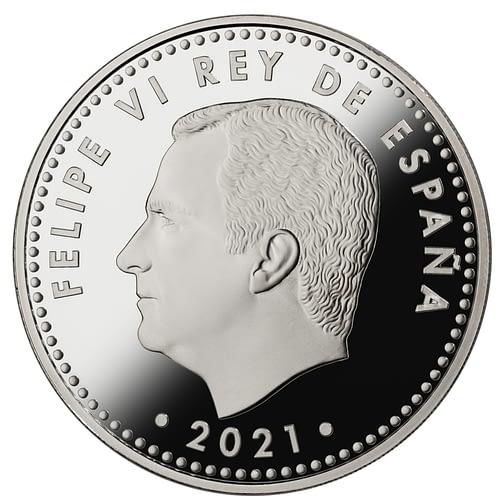 Anverso de la moneda del 8m con felipe vi rey de españa