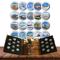 Colección completa de Historia de la Aviación cARTEm COINS