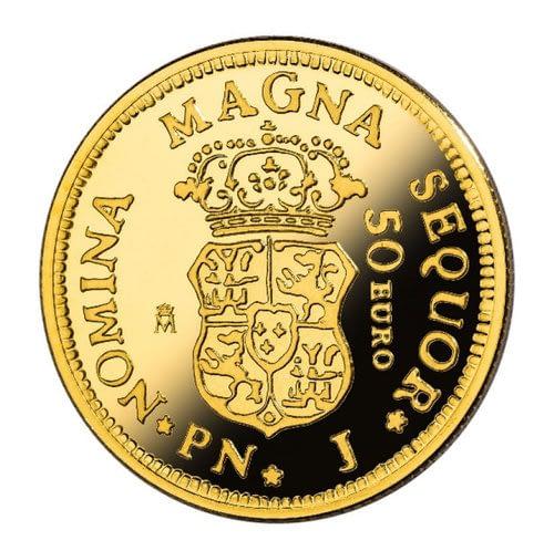 Reverso moneda de 1 escudo de oro. 150 años de la desaparición de los escudos. cARTEm COINS