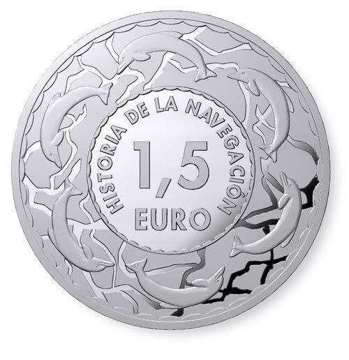 Reverso común monedas de plata historia de la navegación. primera colección. cartem coins.