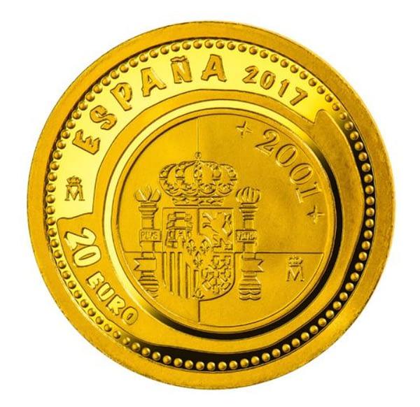 Anverso Joyas numismáticas 2017. Casa de Borbón. 20 EURO. cARTEm COINS