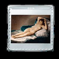 Anverso Moneda Maja Desnuda Goya. Bicentenario del Museo del Prado. cARTEm COINS