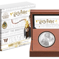 Caja de interior y de madera. Harry Potter. cARTEm COINS