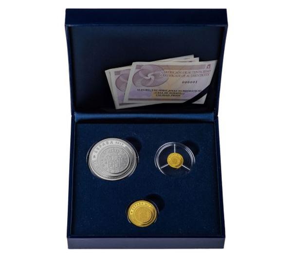 Estuche Joyas numismáticas VIII 2017. Casa de Borbón. Colección completa de oro y plata