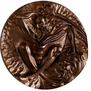 Medalla de cobre El Quijote. Reverso. cARTEm COINS
