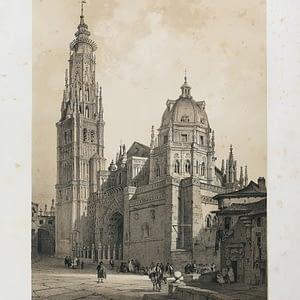 Fachada y Torre de la Catedral (Toledo). Toledo Artístico y Monumental. cARTEm COINS