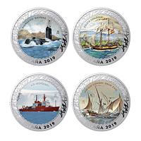 Serie de monedas historia de la navegacion. quinta colección. cartem coins