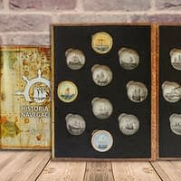Colección completa de monedas de plata historia de la navegación. cARTEm COINS