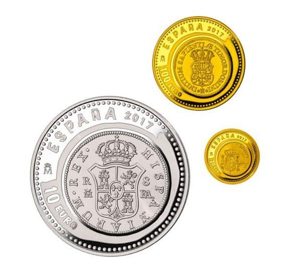 Joyas numismáticas VIII 2017. Casa de Borbón. Colección completa de oro y plata