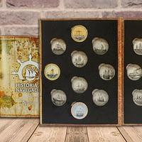 historia de la navegación. primera colección. cartem coins.