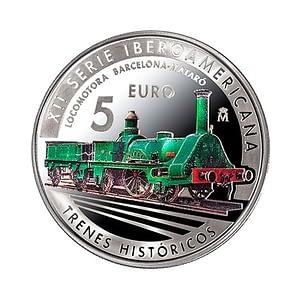 Moneda tren histórico de mataró barcelona españa