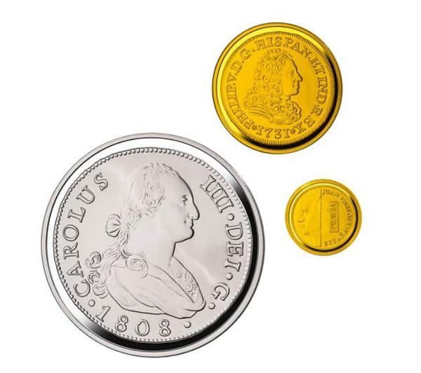 Joyas numismáticas VIII 2017. Casa de Borbón. Colección completa