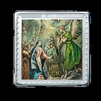 Anverso. Medalla plata El Greco. La Anunciación. Bicentenario del Museo del Prado. cARTEm COINS