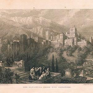 Vista de La Alhambra desde el AlbaicínAlhambra de Granada. cARTEm COINS