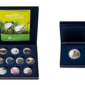 Estuche colección completa monedas. XI Serie Iberoamericana. cARTEm COINS