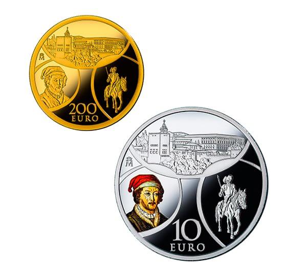Anversos colección completa de monedas serie europa 2019 renacimiento