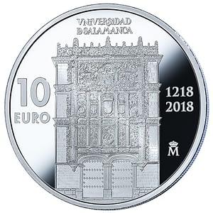 anverso. moneda 800 aniversario universidad de salamanca. cartem coins