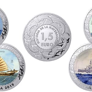 Monedas Historia de la Navegación. Segunda colección. cARTEm COINS