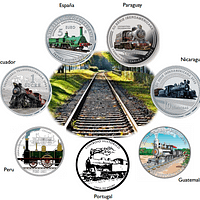 Serie Iberoamericana dedicada al ferrocaril