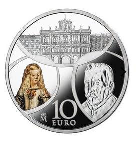 Anverso Moneda 8 reales de plata. Serie Europa 2018. Barroco y Rococó. cARTEm COINS