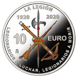centenario de la legión española reverso
